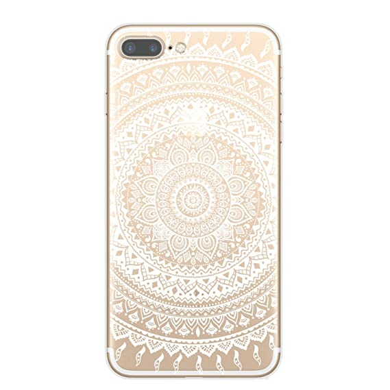 9f2397dd89f Retro Mandala National Wind Totem Soft Silicone Transparent TPU Phone Case  Cover for iPhone 7 8