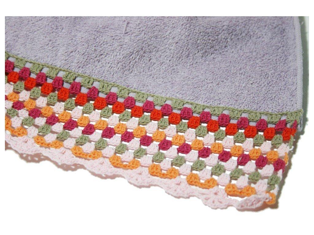 Puntillas de ganchillo para toallas