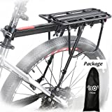 Bike Cargo Racks Bicycle Pannier Rack Mountain Carrier Rear Rack Seat Load 50Kg Luggage Bags for Cycling Camping Sport
