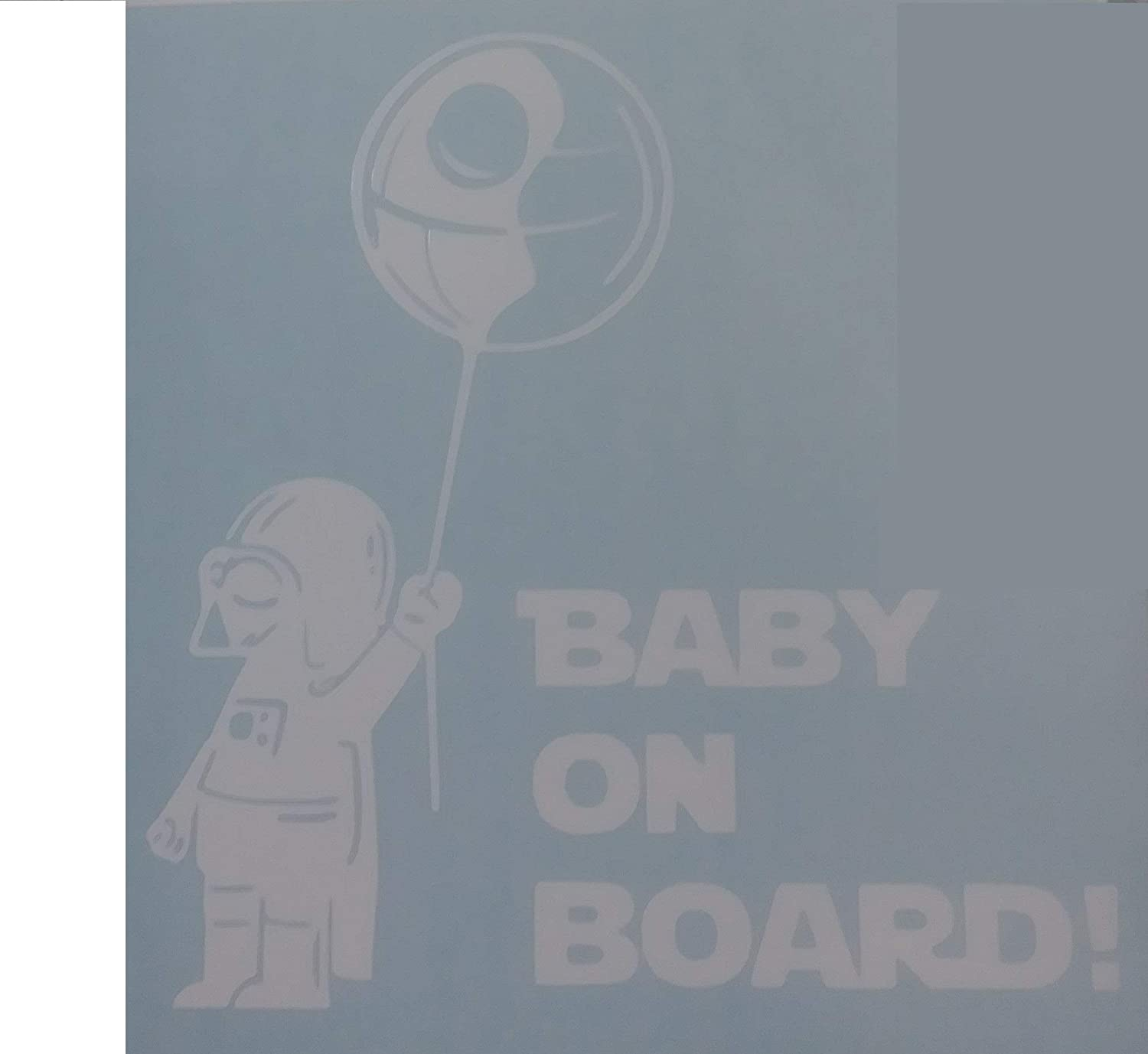 "Darth Vader Baby on Board Star Wars Sticker Decal for Laptop Car Windows Room (5.5"" inches, White)"