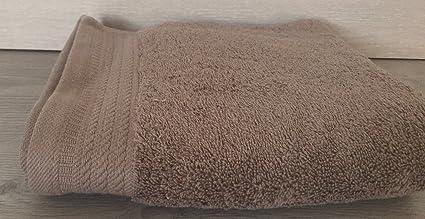 Ajuar Rizo - Toalla de Lavabo 600 gr. 100% algodón peinado color visón 50x100
