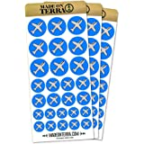 Plane Airplane Travel Flying Removable Matte Sticker Sheets Set