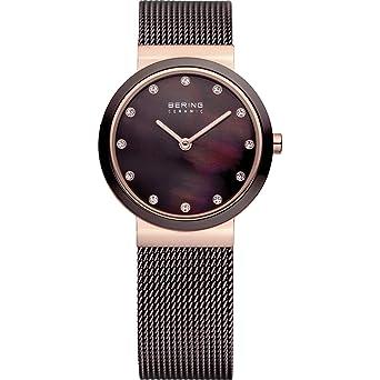 BERING Reloj Analógico para Mujer de Cuarzo con Correa en Acero Inoxidable 10725-262: Amazon.es: Relojes