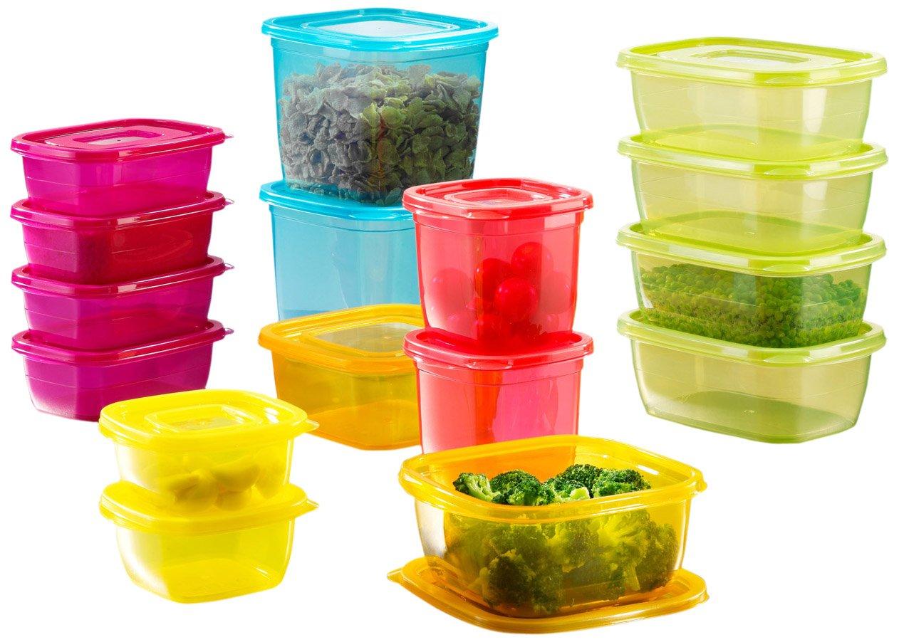 BEEM F4000.400 - Set di contenitori per alimenti Click-Fresh Rainbow, 32 pezzi sellerccB400332