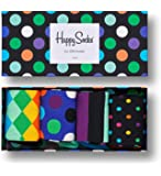 Happy Socks - Exclusive Colorful Premium Cotton Sock Gift Box for Men and Women