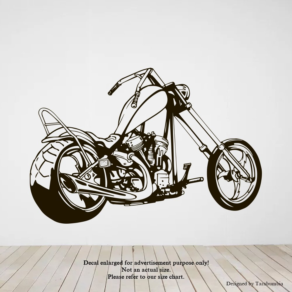 Amazon com custom bike chopper wall decals motorcycle stickers decorative design ideas for your home or office walls removable vinyl murals ec 1217 arts