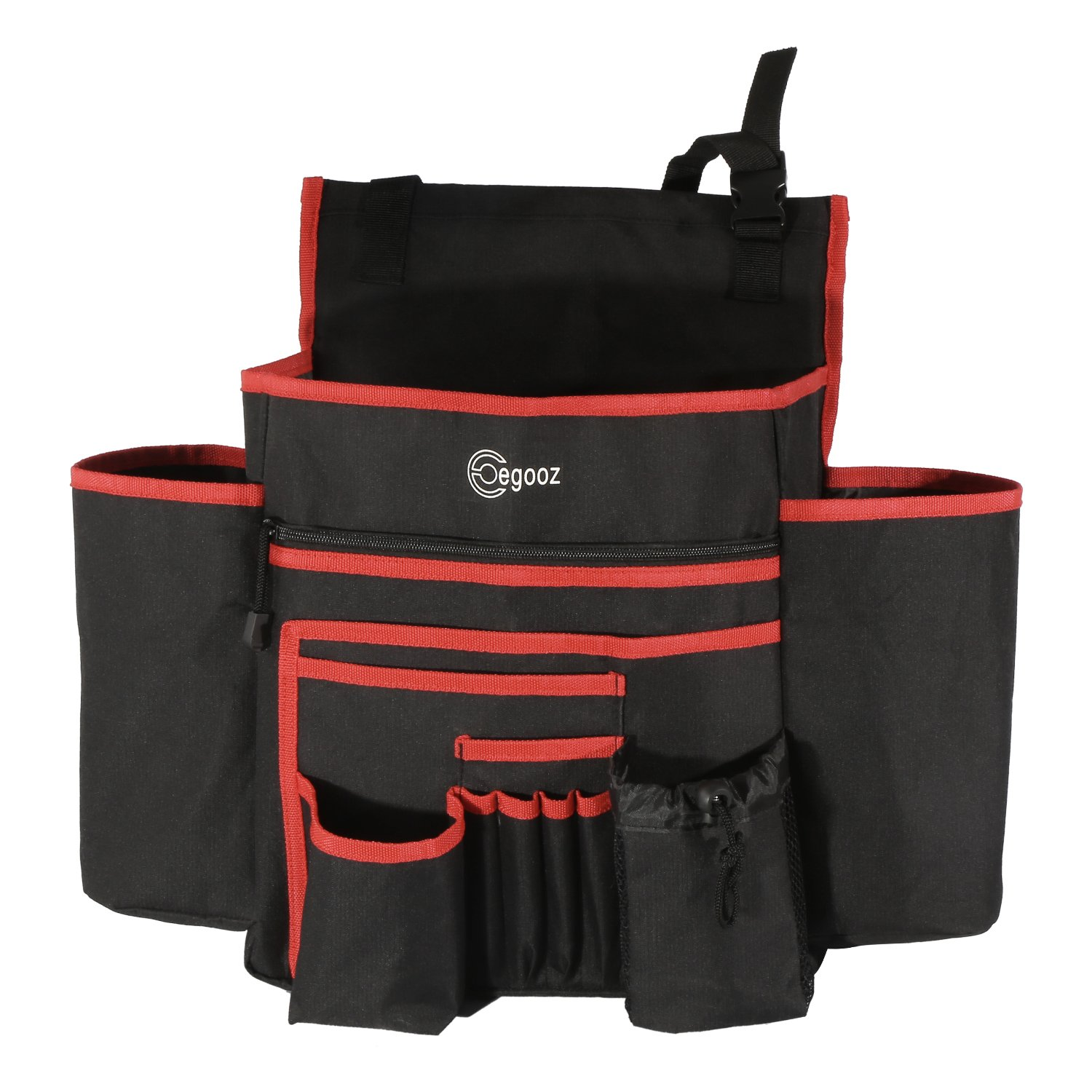 9 Storage Pockets Egooz Techology Enterprise Limited Easy Reach Heavy Duty Perfect Traveling Office for Law Enforcement and Business Commuters Egooz Car Front Seat Organizer with Large Capacity