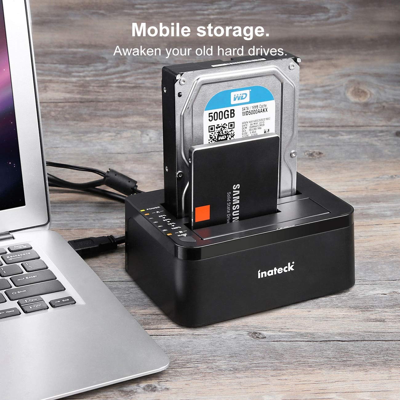 Tool-free SATA I// II// III Support 2x 8TB /& UASP Inateck USB 3.0 to SATA 2-Bay USB 3.0 Hard Drive Docking Station with Offline Clone Function for 2.5 Inch /& 3.5 Inch HDD SSD SATA