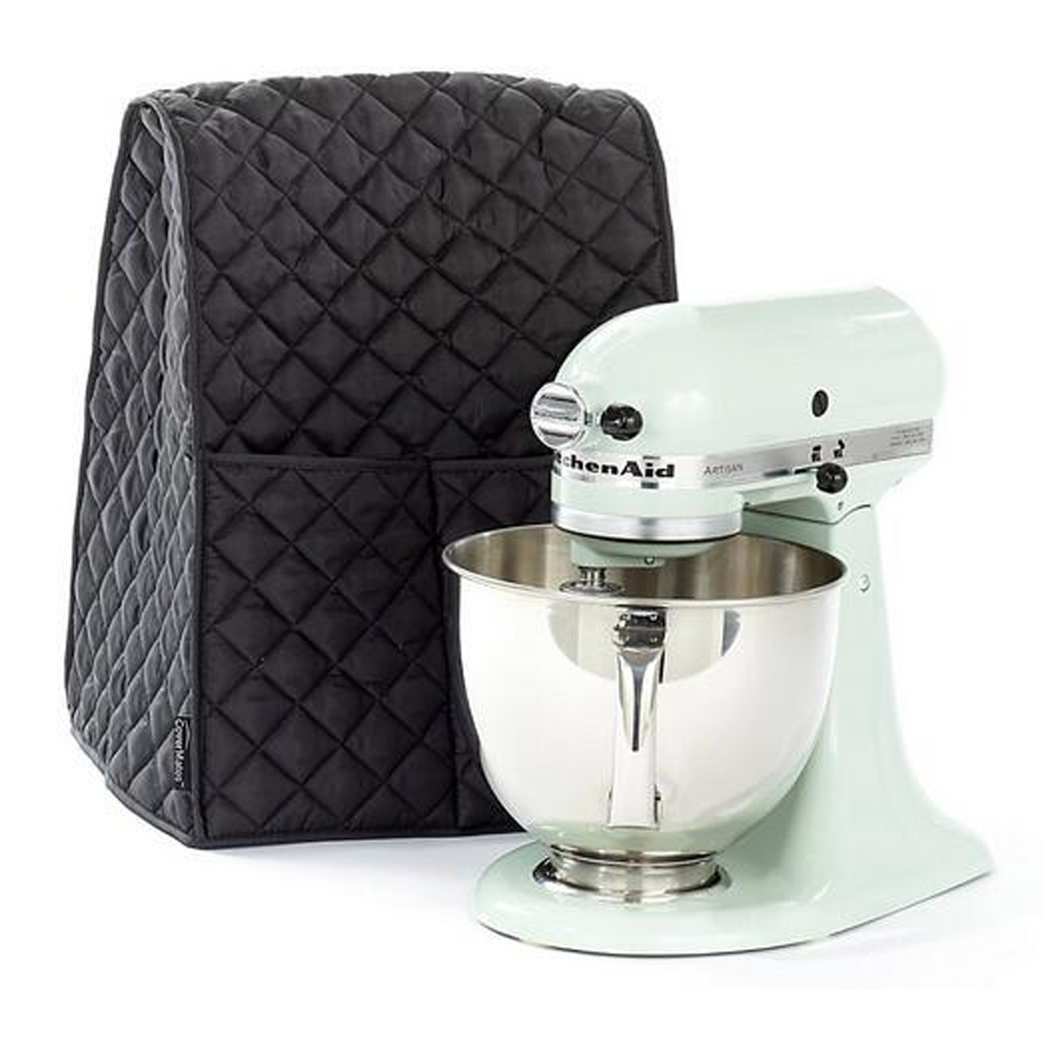 BALFER Stand Mixer Cover Dust-proof with Organizer Bag for Kitchenaid Mixer hg020 Black