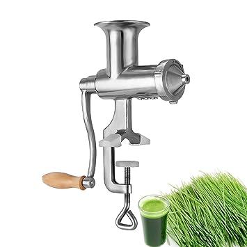 VEVOR germinado exprimidor Extractor de acero inoxidable 304 germinado 3.7lbs germinado molinillo verduras ergonómico con hojas manual exprimidor Extractor ...