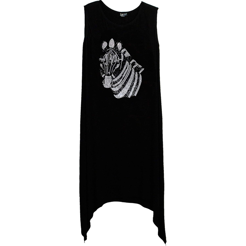 Bulltees /& Shiny Zebra HotFix Rhinestones Womens Shirt Tee Dress Tank Top Leggings