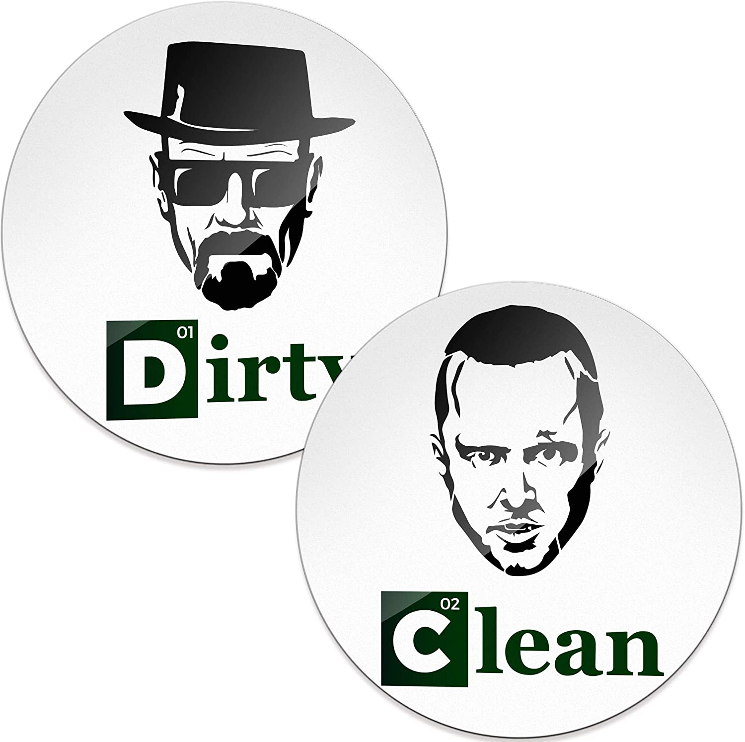 Dishwasher Clean Dirty Magnet Sign - Funny Housewarming Gifts New Home - Great Husband Birthday Gifts from Wife, Gifts for Dad and Mom from Son and Daughter - Clean/Dirty Dishwasher Magnet