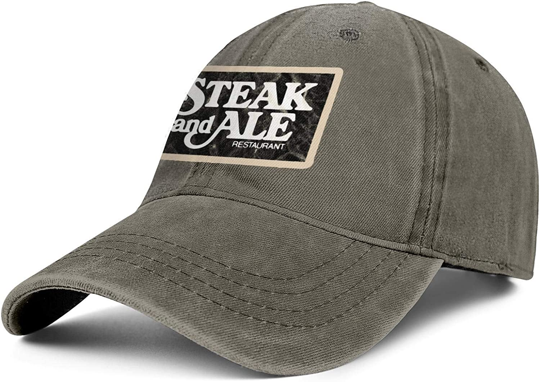 ChenBG Unisex Steak and Ale Restaurant Logo Adjustble Baseball Cap Gas Cap All Cotton Cowboy Hat