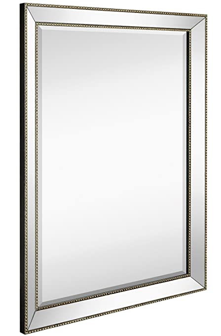 Amazon.com: Large Framed Wall Mirror with Angled Beveled Mirror ...