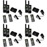 (8) COBRA CXR-925 35 Mile 22 Channel UHF/FM NOAA Two-Way Radios Walkie Talkies