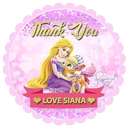 Pegatinas Personalizadas para Fiesta de Princesa Disney ...