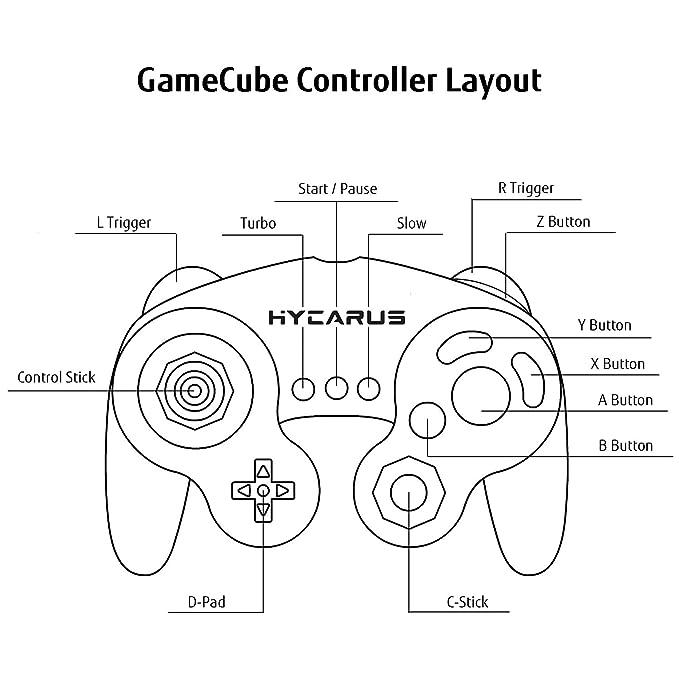 Amazon Com Gamecube Controller Hycarus White Gaming Controller