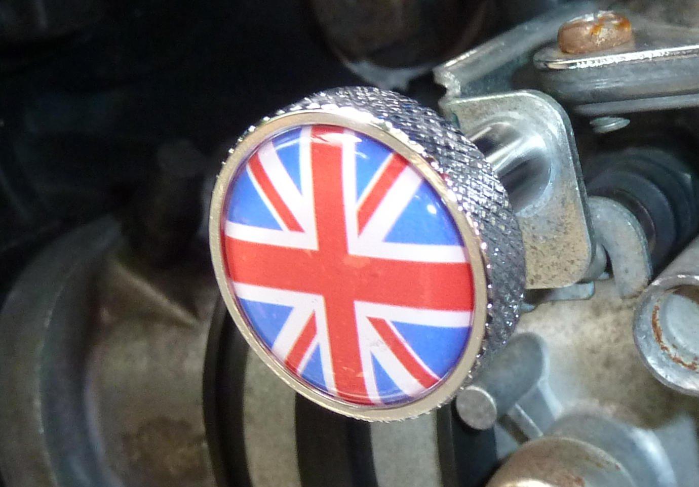 Choke ckoke pulsante alluminio Triumph Scrambler Bonneville Thruxton America Speed Master 40201