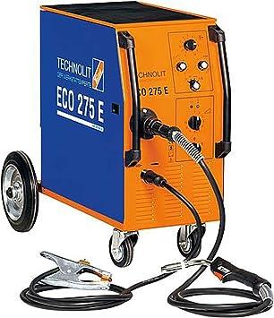 Typ:3 m Schlauchpaket TECHNOLIT ECO 275 E MIG-MAG Schwei/ßger/ät 400 V Schutzgasschwei/ßger/ät 30-270 A 4-Rollen-Drahtvorschub