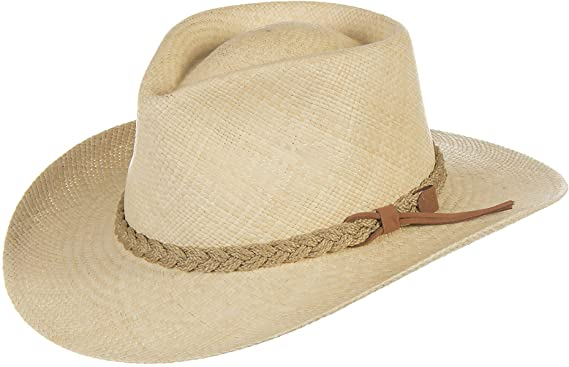 4fef5e5c8d25 Overland Sheepskin Co Riobamba Outback Straw Hat at Amazon Women's Clothing  store