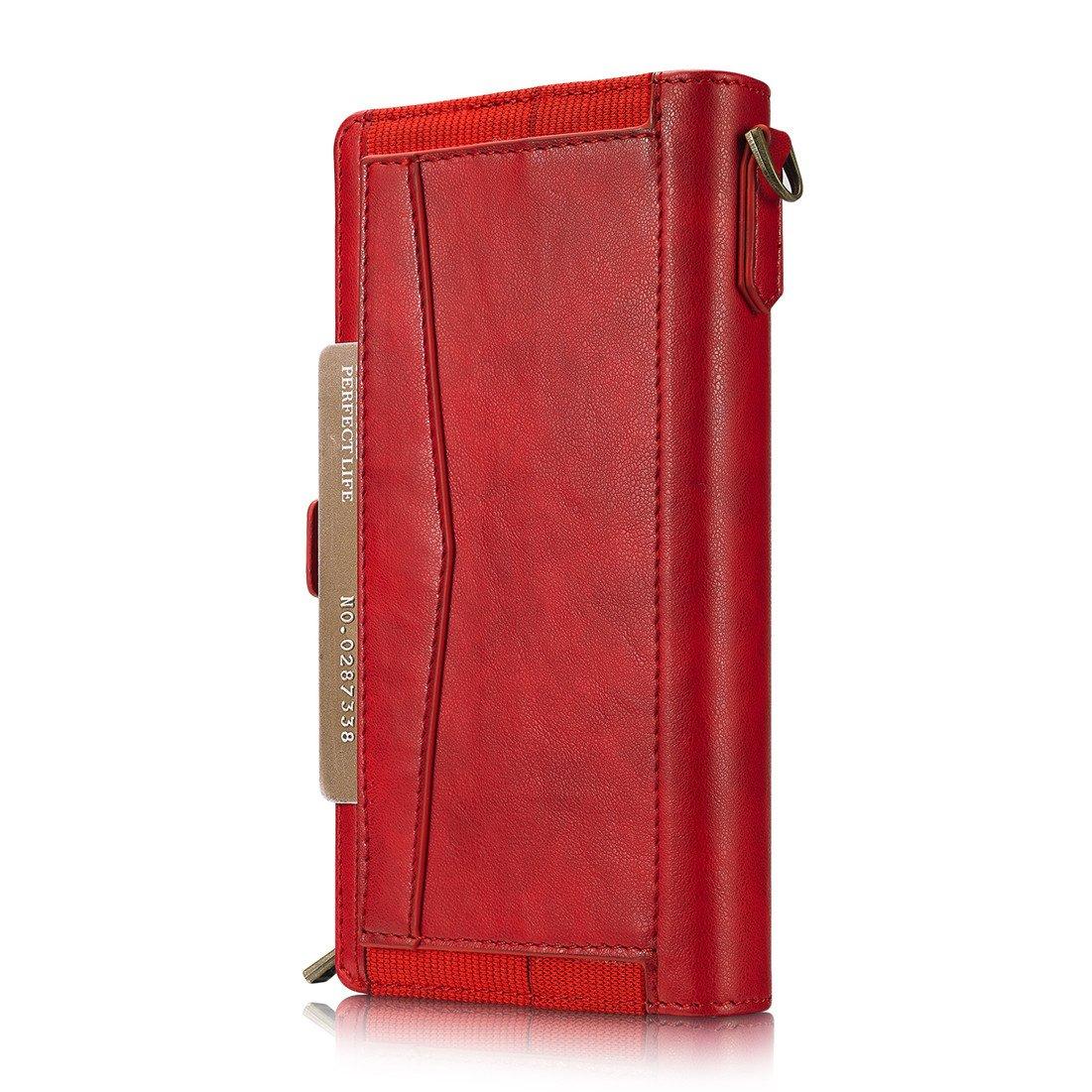 c04e8230b4 Amazon | iphone7 ケース iphone8 ケース 手帳型 財布型 クラッチバッグ 【Boomshine】高品質 PUレザー  アイホン7/8 ケース 分離式 多機能スマホ手帳形 ポーチ ...