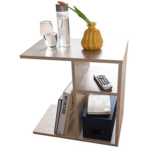 KS-Furniture Milo - Mesa Auxiliar, 50 x 50 x 30 cm, Madera, diseño ...