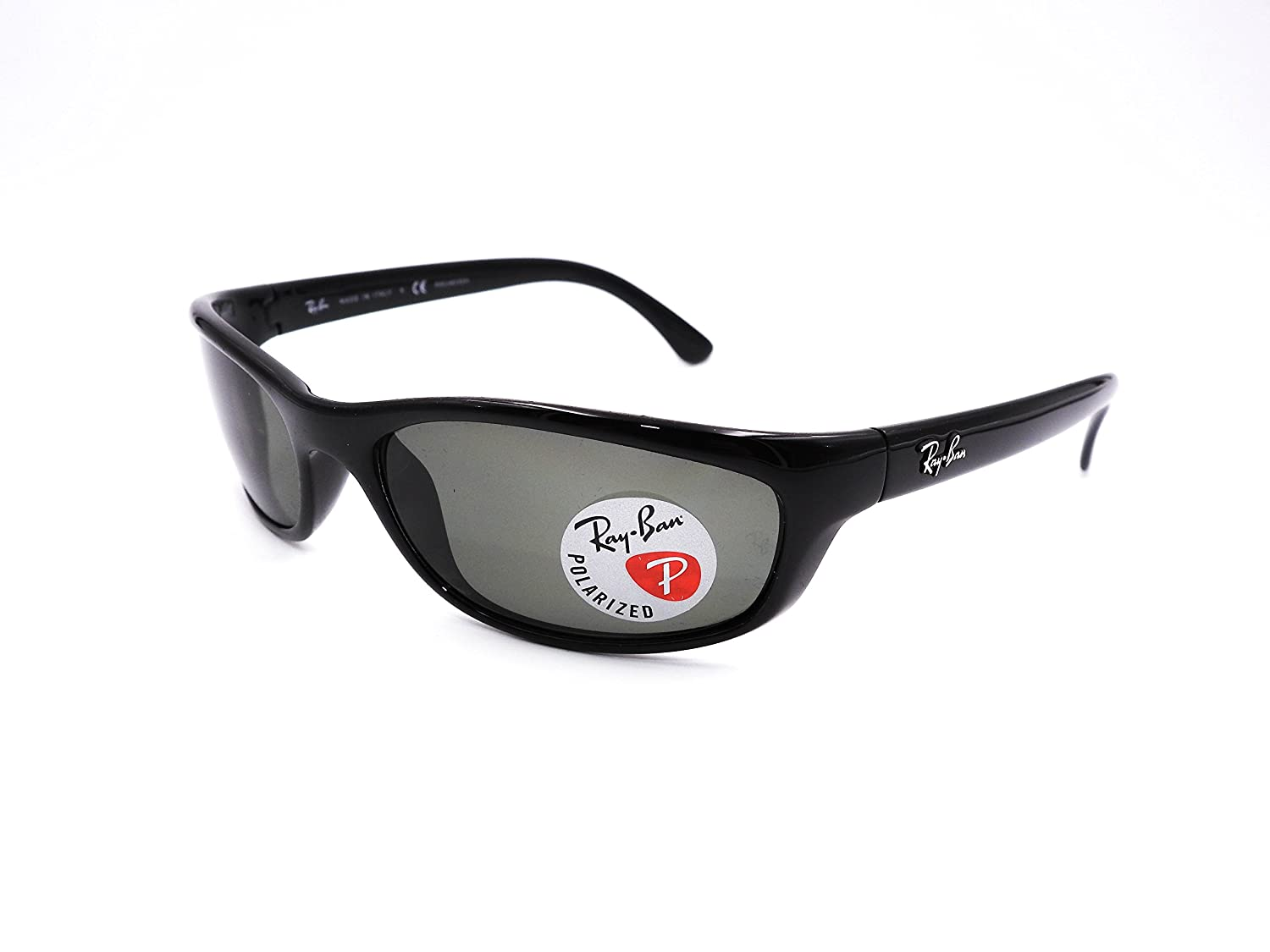 d1f259177c Amazon.com  Ray-Ban RB4115 - 601 9A Sunglasses Black w  Polarized  Grey-Green Lens 57mm  Clothing