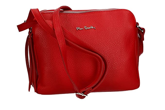 Made In Rosso Donna Pelle A Borsa Italy Pierre Tracolla Cardin nSFYpx8