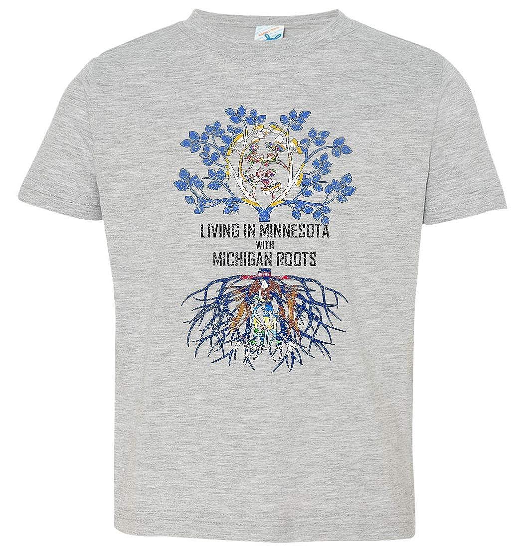 Tenacitee Babys Living in Minnesota with Michigan Roots Shirt