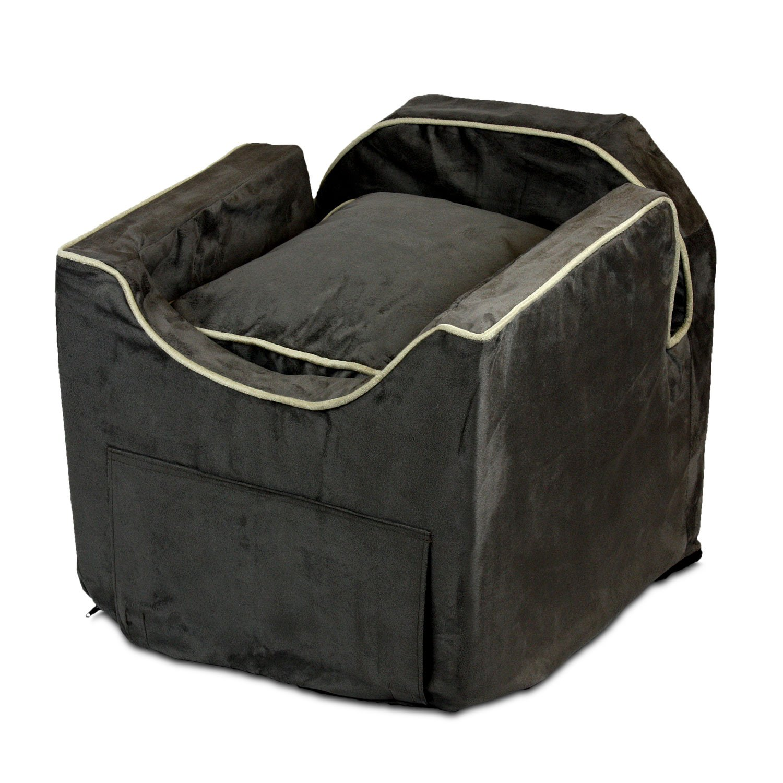 Snoozer Luxury Lookout Pet Car Seat, Small Luxury II, Dk Choc with Buckskin