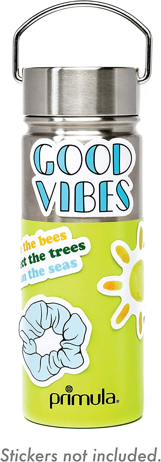 Primula Water Bottle Cute & Trendy, Perfect for Stickers and Vinyl Decals and Scrunchies, Leak Proof Flask, 17 oz, Green