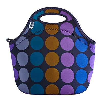 BUILT NY Gourmet to Go Neoprene Lunch Tote, Plum Dot: Kitchen & Dining