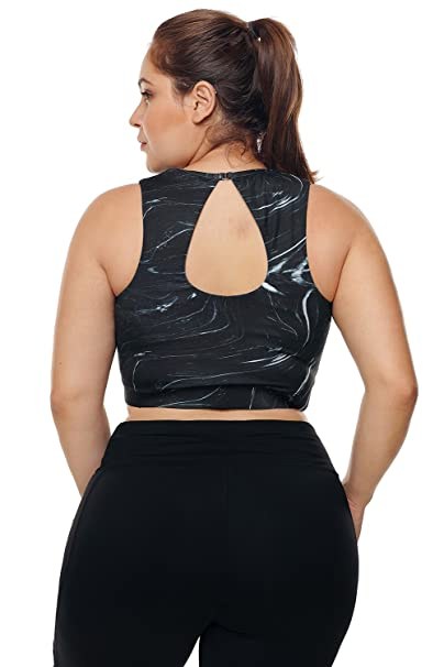 10f86a164d XAKALAKA Women s Plus Size Criss Cross Strappy Support Workout Sport Yoga  Tops Bra at Amazon Women s Clothing store