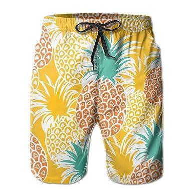 0bd89c2fd6 Amazon.com: Upside Down Pineapple Men's Beach Shorts Summer Swim Tropical  -gogoswim: Clothing