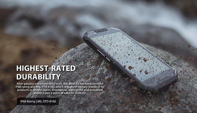 AGM X2 freigeschaltet Teléfono 6 GB + 64 GB fingerabdruck Dos ...