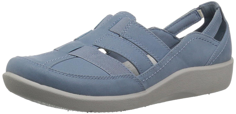 bluee grey synthetic nubuck Clarks Women's Sillian Stork Loafers