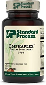 Standard Process Emphaplex - Whole Food Lungs Supplement - Lung Support Supplement, Respiratory Support, and Nervous System Supplements with Thiamin, Riboflavin, Choline, and More - 90 Capsules