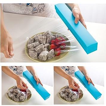 publicfashion- envoltorio de plástico soporte para dispensador de film Foil cortador cocina Gadgets: Amazon.es: Hogar