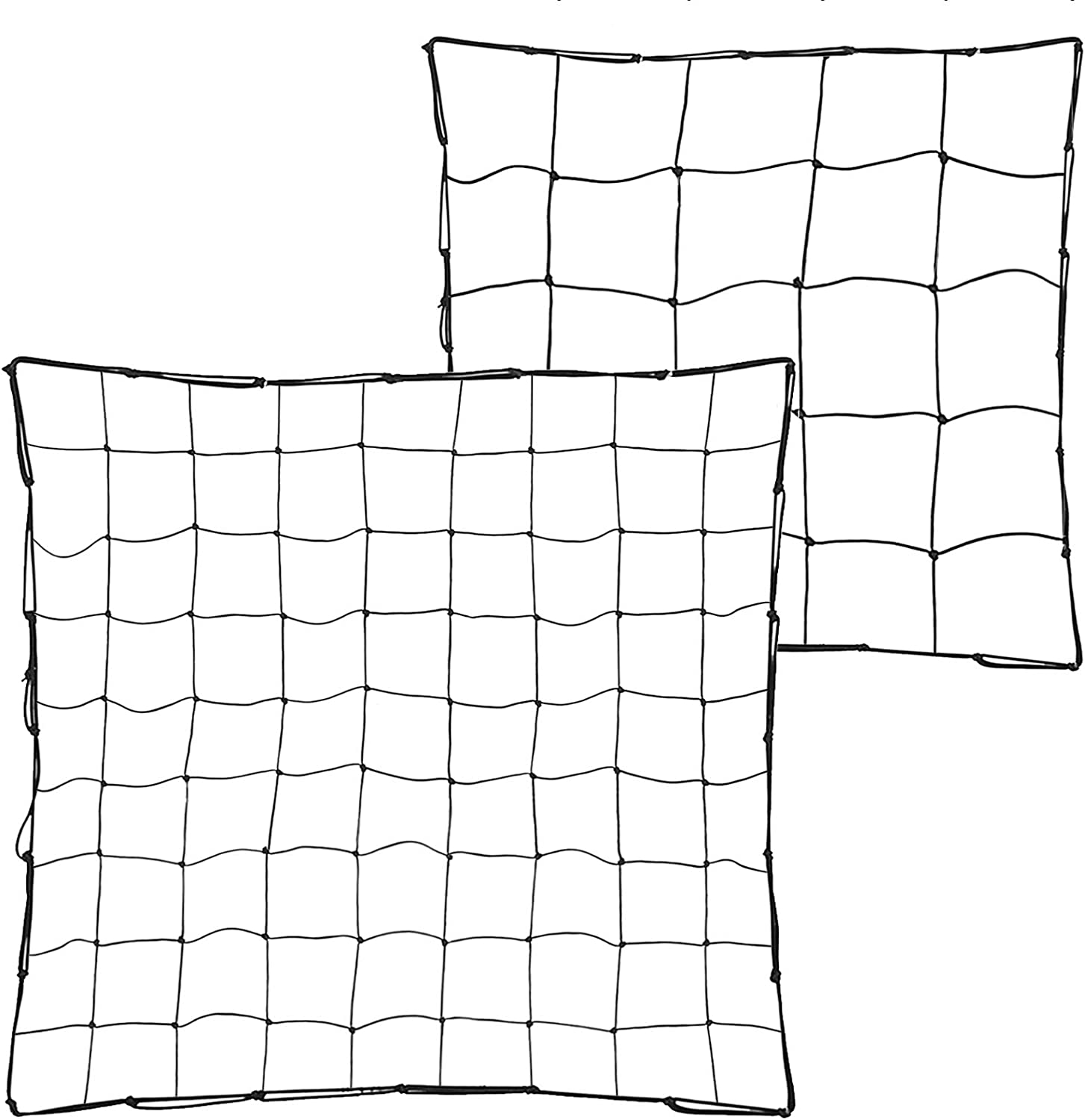 GARDENAID Trellis Netting for Grow Tent 4x4 FT Flexible Net Trellis with 8 Steel Hooks (30 Inches and 36 Inches)
