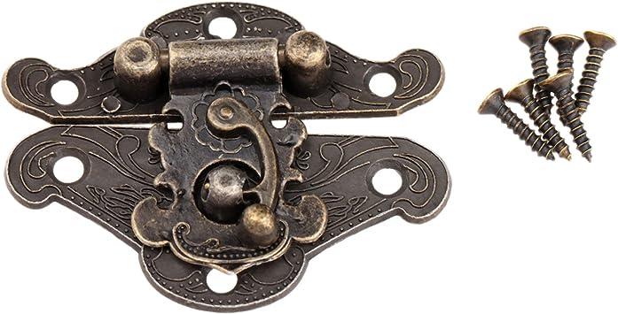 Retro Style Jewelry Box Latch Gift Chest Hasp Pad Lock Clasp Decorative