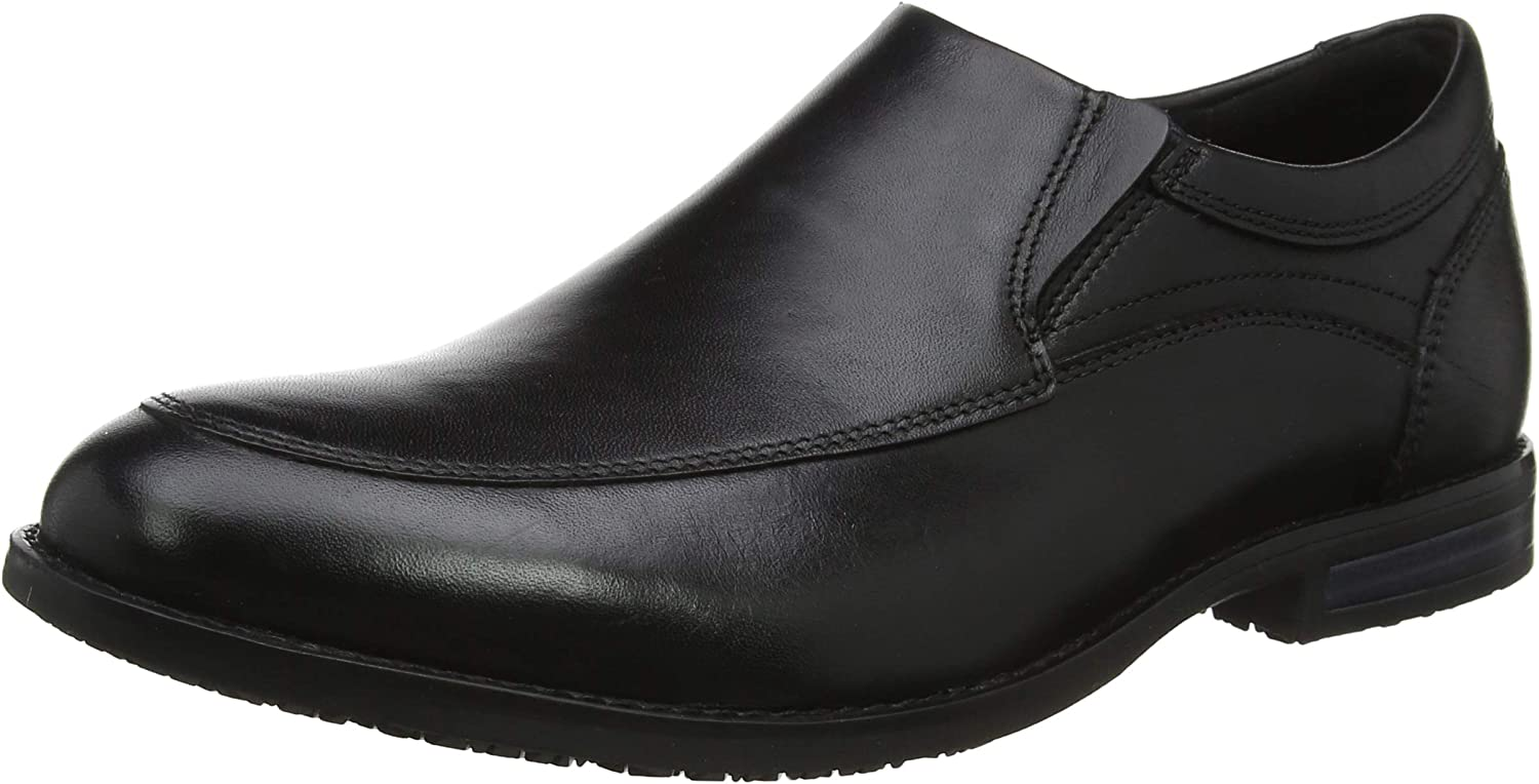 Rockport Dustyn Slipon Black, Mocasines para Hombre