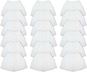 Joseph Abboud Mens 18 Pack Full Cut Cotton Boxers Sleep Shorts - Value Pack