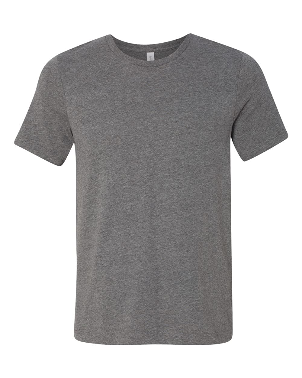 Canvas Unisex Jersey Heavyweight 55 oz Crew T-Shirt Bella Style # 3091 - Original Label S - DEEP HEATHER