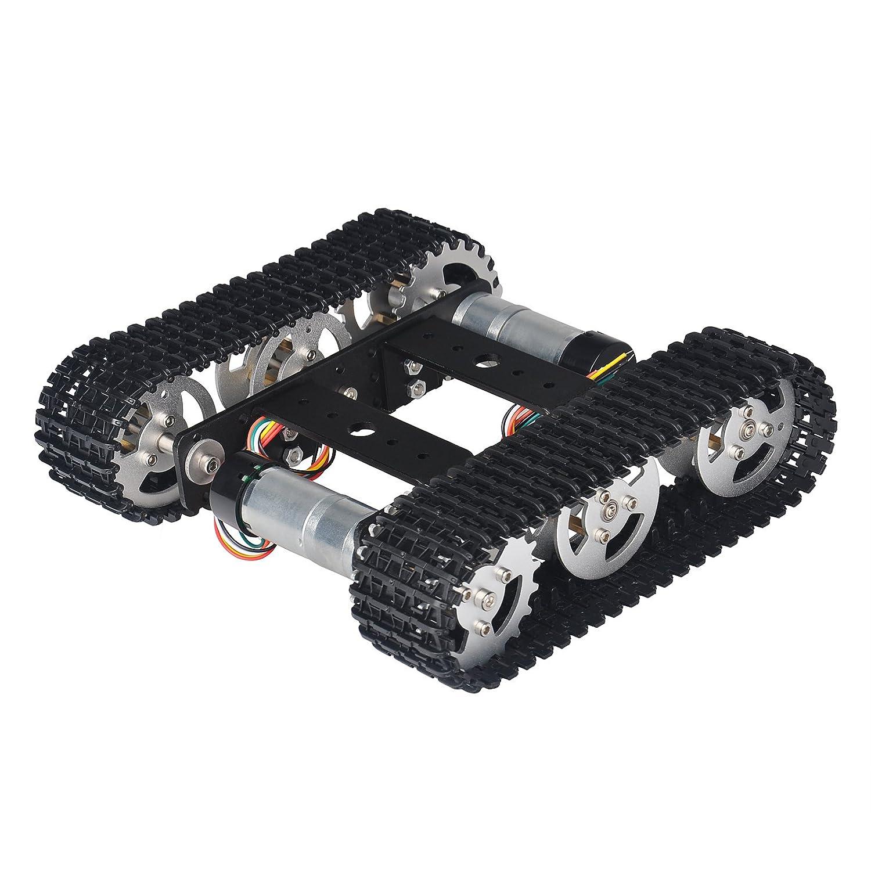 Trex Tank Chassis By Dagu Robot Toys Games Tamiya Tz Original Mountain Ark Black Tracked Smart Car Platform Aluminum Alloy With Dual Dc 9v Motor