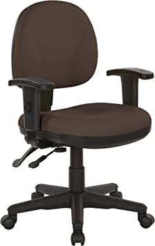 Amazon Com Office Star Ergonomic Sculptured Manager S Chair With Adjustable Arms Dillon Java Fabric Furniture Decor