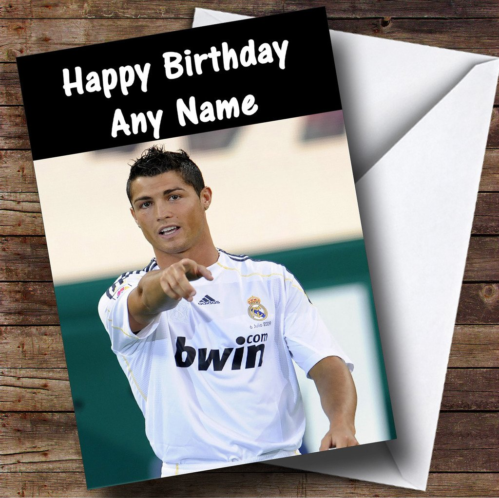 Ronaldo Personalised Birthday Card Amazoncouk Office Products – Birthday Cards Personalised