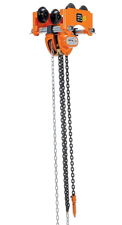 Vestil Low 1p Push Low Headroom Combination Chain Hoist Trolley 1000 Lbs Capacity 2 6 I Beam Flange Hand Chain Hoists Industrial Scientific
