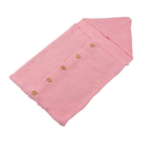 homeofying Lovely de punto manta para bebé (ganchillo Botones saco de dormir para recién nacido
