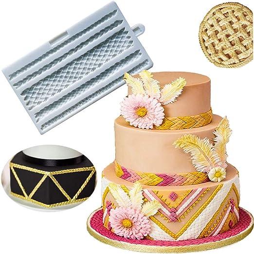 Lace Wave Border Fondant Silicone Mold Chocolate Cake Decorating Baking Tool