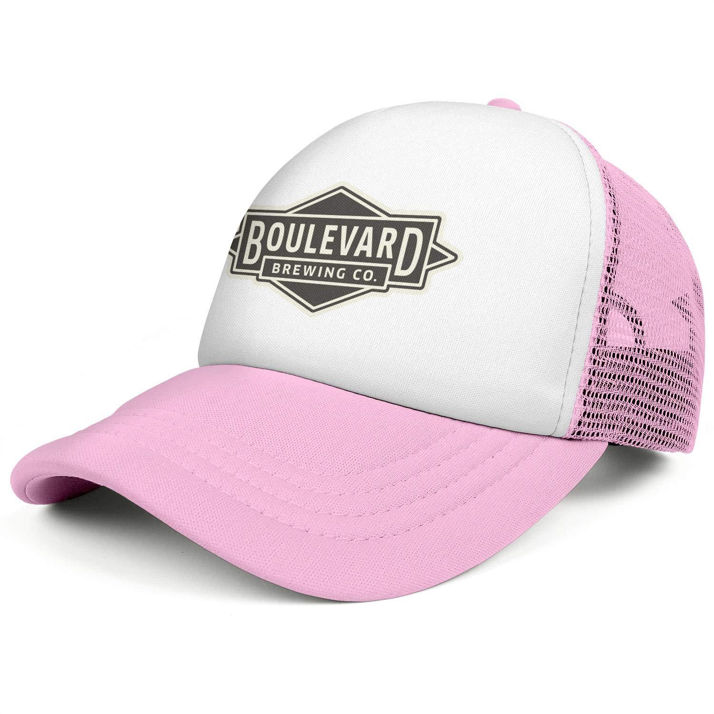 Boulevard Brewing Company Mens Women Mesh Baseball Cap Adjustable Snapback Sun Hat